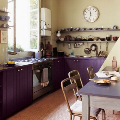 Фиолет и пурпур на кухне