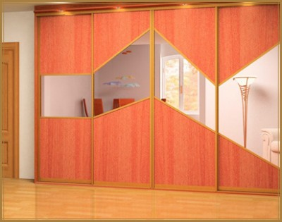 комбинированные двери шкафа купе