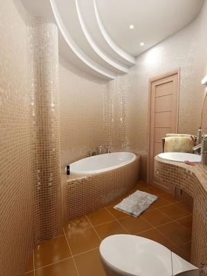 Дизайн потолков ванных комнат