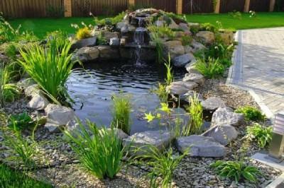 Построить водное сооружение в саду не трудно