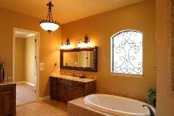 Кухня и ванная комната в стиле ретро