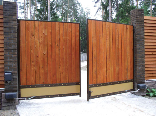 Фото распашные ворота своими руками