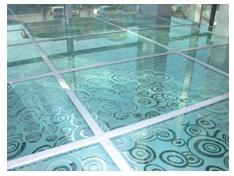 напольные покрытия - стекляный пол