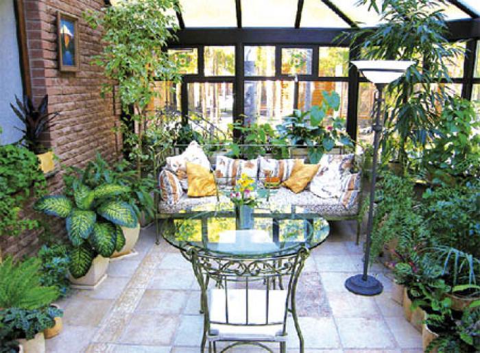 Фото дизайна зимнего сада