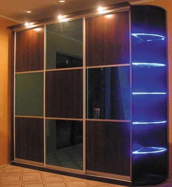 Шкафы-купе со светодиодной подсветкой