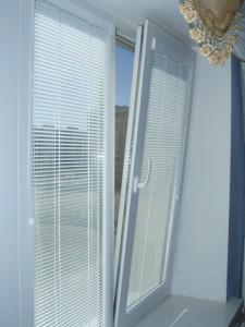 Blinds for plastic windows