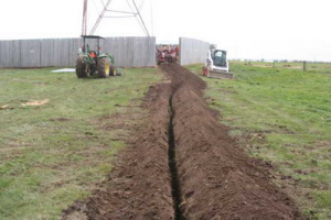 Cable routing on the site