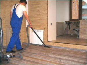 Cleaning the house after repairs