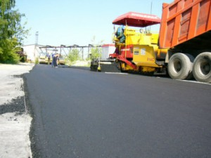 Construction of roads and adjoining areas