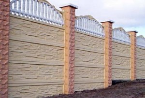 Decorative concrete fences