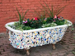 Dispose of the old cast iron bath