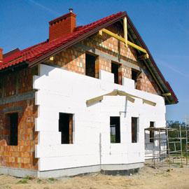 Exterior wall insulation foam