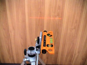 How to use the laser level