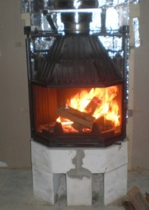 Installation of furnaces for fire