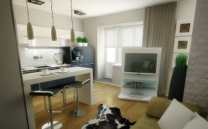 Interior design studio apartments