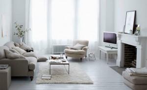 Interior room in white