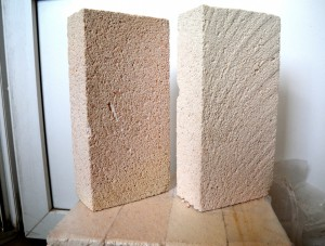 Lightweight refractory bricks