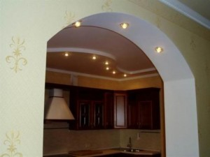 Pasting arch wallpaper