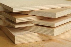 Plywood wood