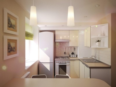 Redesign flat with compact kitchen