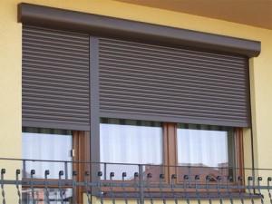 Roller blinds on windows