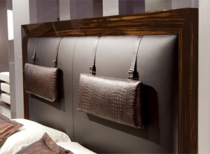 Separate headboard for the bed