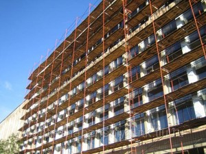 Square set of scaffolding