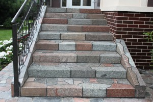 Steps from a stone