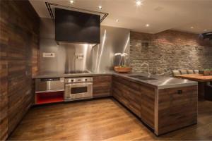 Stylish kitchen from wood
