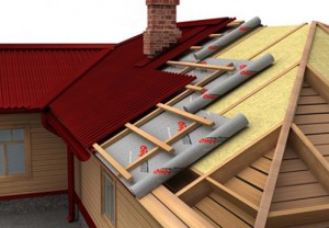 Thermal insulation of roofs