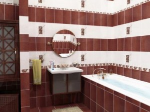 Tile design for bath