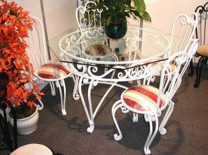 Wrought iron furniture for the home
