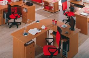 arrange the desks in the office