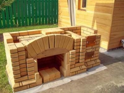 Барбекю печь для дачи