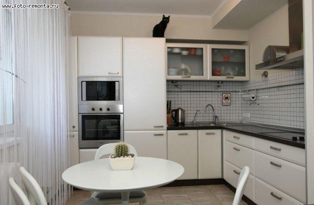 Белые глянцевые кухни в интерьере