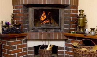 build a corner fireplace, угловой камин