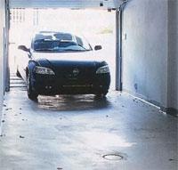 concreted floor in the garage
