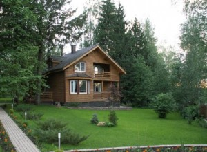 cottage in the forest area