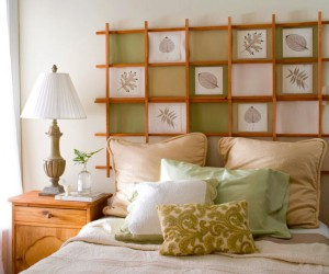 decorate a headboard for a bed