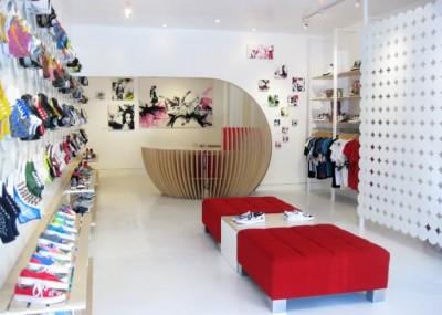 design the interior of the store