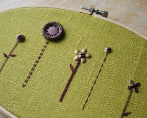 embroidery in the interior