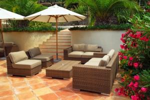 garden furniture and garden