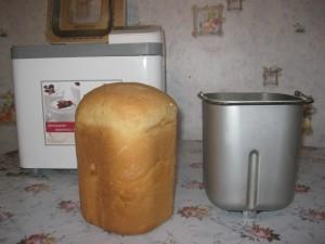homemade bread in the bread maker