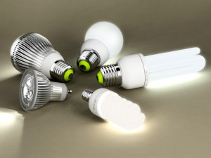 installation of energy-saving lamps
