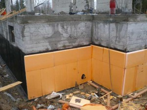 insulation of the house foundation