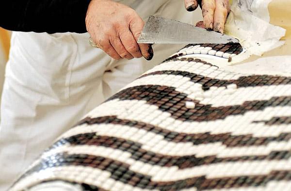 Декор пола, мозаика на полу, как сделать мозаику своими руками.