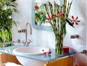 make the bathroom a cozy