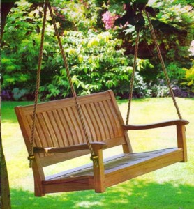 make your own garden swing