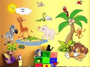 nursery-style jungle, Оформляем детскую в стиле джунглей