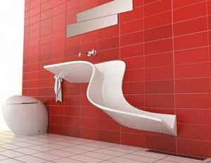 pick up the plumbing in the bathroom